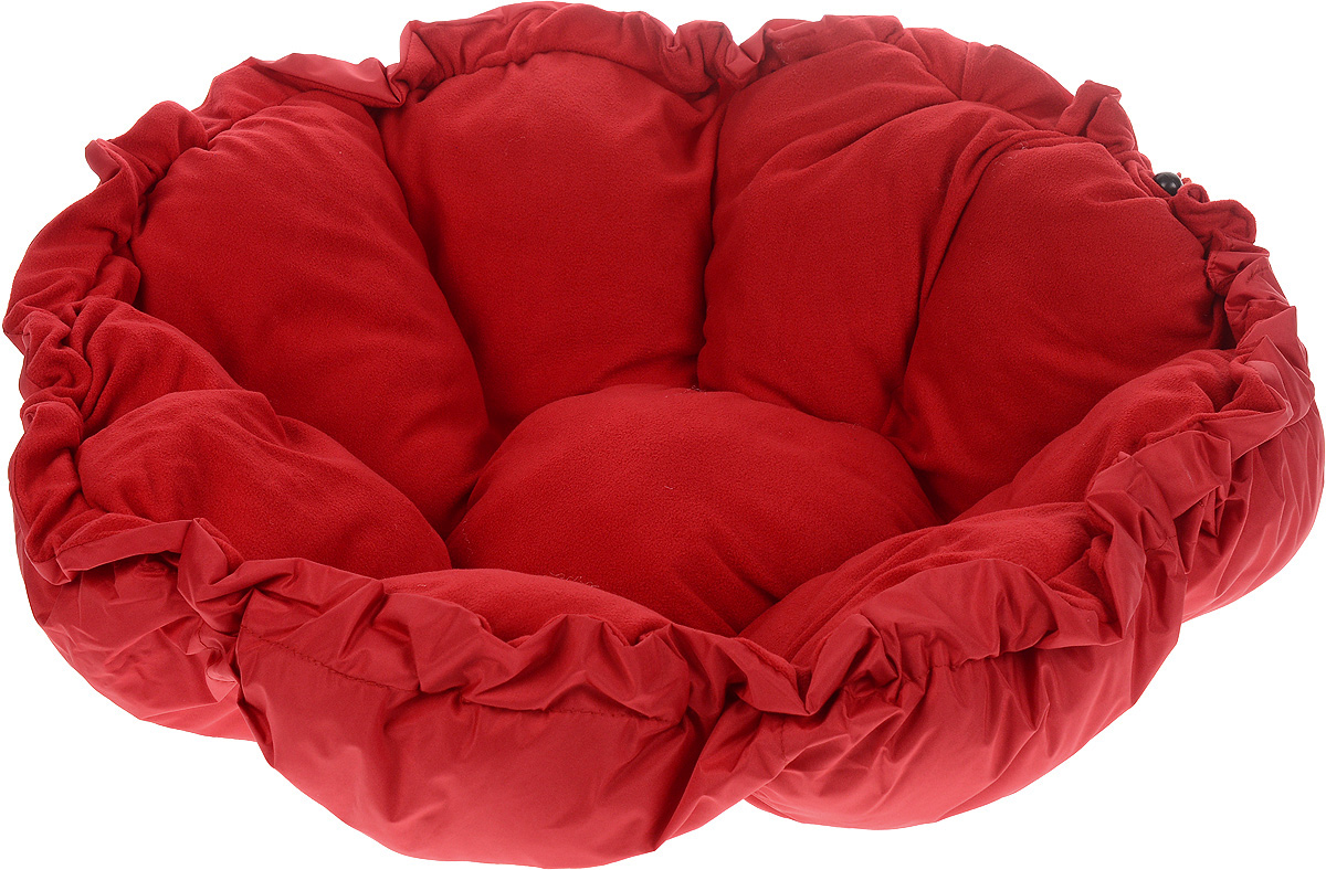 Лежак для животных ЗооМарк Тыква, цвет: красный, диаметр 90 см4177_красныйЛежак ЗооМарк Тыква, выполненный из текстиля, обязательно понравится вашему питомцу. Он очень удобный и уютный. Ваш любимец сразу же захочет забраться на лежак, там он сможет отдохнуть и подремать в свое удовольствие. Приятная цветовая гамма сделает изделие оригинальным дополнением к любому интерьеру. С помощью затягивающегося шнурка вы можете сделать у лежака бортики.Диаметр лежака: 90 см.Высота: 10 см.