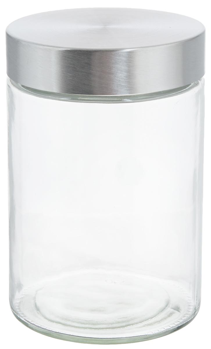 Банка для хранения Zeller, 1,1 л19917Банка Zeller, изготовленная из прочного стекла, снабжена металлической крышкой, которая плотно и герметично закрывается, дольше сохраняя аромат и свежесть содержимого. Изделие подходит для хранения сыпучих продуктов: круп, чая, специй, орехов, сахара и многого другого. Функциональная и вместительная, такая банка станет незаменимым аксессуаром на любой кухне. Диаметр банки (по верхнему краю): 10 см.Высота банки (без учета крышки): 16,7 см.