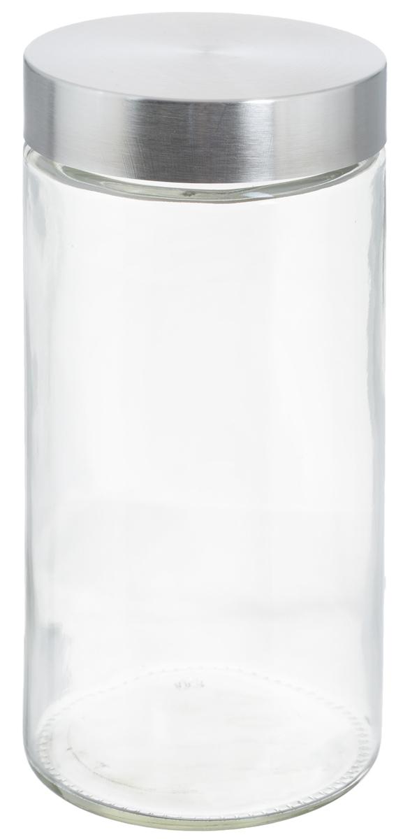 Банка для хранения Zeller, 1,6 л19918Банка Zeller, изготовленная из прочного стекла, снабжена металлической крышкой, которая плотно и герметично закрывается, дольше сохраняя аромат и свежесть содержимого. Изделие подходит для хранения сыпучих продуктов: круп, чая, специй, орехов, сахара и многого другого. Функциональная и вместительная, такая банка станет незаменимым аксессуаром на любой кухне. Диаметр банки (по верхнему краю): 10 см.Высота банки (без учета крышки): 22 см.