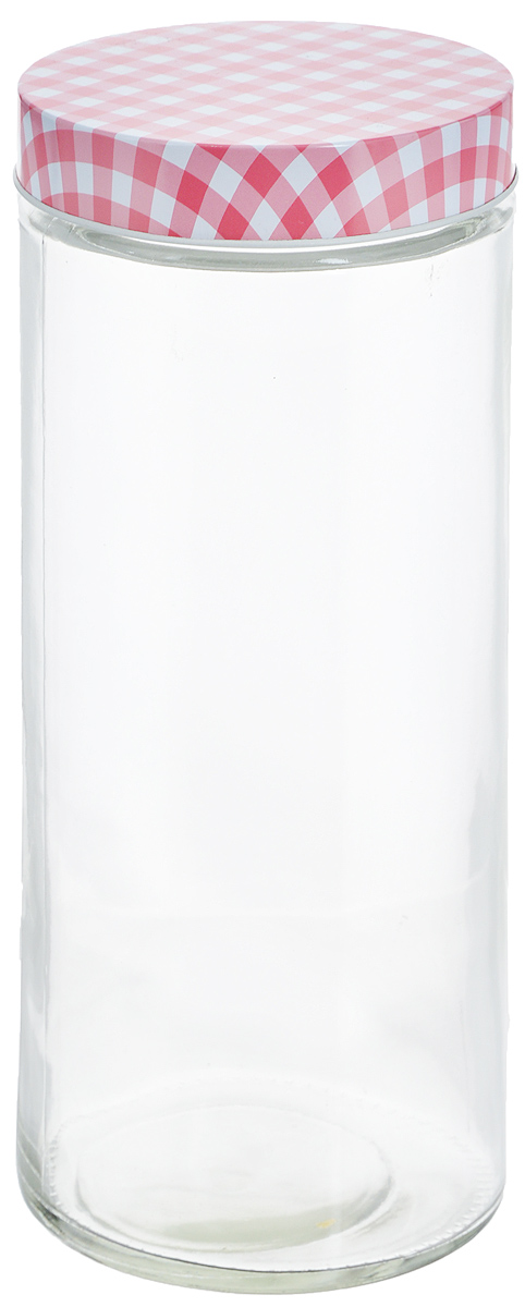 Банка для хранения Zeller, цвет: прозрачный, розовый, 2,1 л19783_прозрачный, розовыйБанка Zeller, изготовленная из прочногостекла, снабжена металлической крышкой, которая плотнозакрывается, дольше сохраняя аромат и свежесть содержимого.Изделие подходит для хранения сыпучих продуктов: круп,специй, орехов, сахара, соли и многого другого.Функциональная и вместительная, такая банка станетнезаменимым аксессуаром на любой кухне. Диаметр банки (по верхнему краю): 10 см. Высота банки (без учета крышки): 27 см.