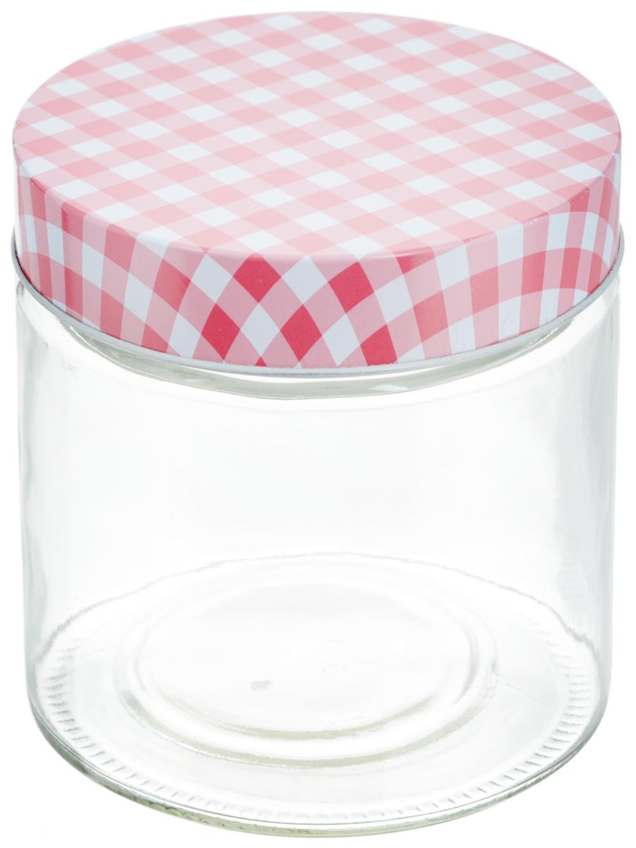 Банка для хранения Zeller, цвет: прозрачный, розовый, 750 мл банка для продуктов zeller диаметр 22 см