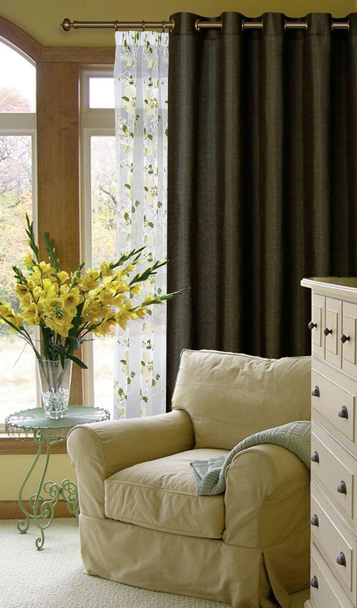 Штора Garden, на ленте, цвет: темно-серый, высота 260 см. С W1884 V78079С W1884 V78079Garden – это универсальная и интересная серия домашних штор для яркого и стильного оформления окон и создания особенной уютной атмосферы. Эта штора великолепно смотрится как одна, так и в паре, в комбинации с нежной тюлевой занавеской, собранная на подхваты и свободно ниспадающая естественными складками. Такая штора, изготовленная полностью из прочного и очень практичного полиэстерового полотна, долговечна и не боится стирок, не сминается, не теряет своего блеска и яркости красок.