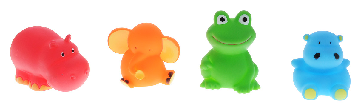 BabyOno Набор игрушек для ванной Животные 4 шт игрушки для ванной пома набор игрушек лесной домик