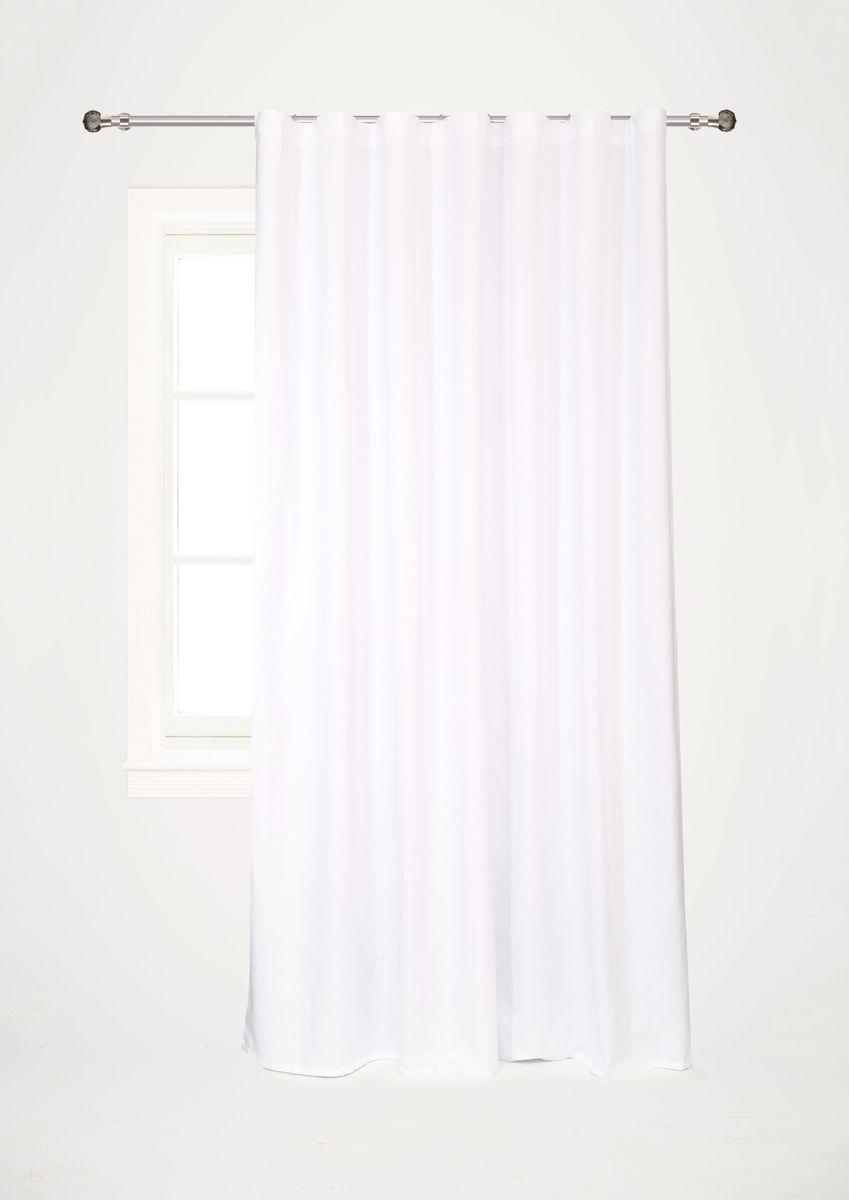 Штора Garden, на ленте, цвет: белый, высота 260 см. С W1687 V7000040.13.64.0254Garden – это универсальная и интересная серия домашних штор для яркого и стильного оформления окон и создания особенной уютной атмосферы. Эта штора великолепно смотрится как одна, так и в паре, в комбинации с нежной тюлевой занавеской, собранная на подхваты и свободно ниспадающая естественными складками. Такая штора, изготовленная полностью из прочного и очень практичного полиэстерового полотна, долговечна и не боится стирок, не сминается, не теряет своего блеска и яркости красок.