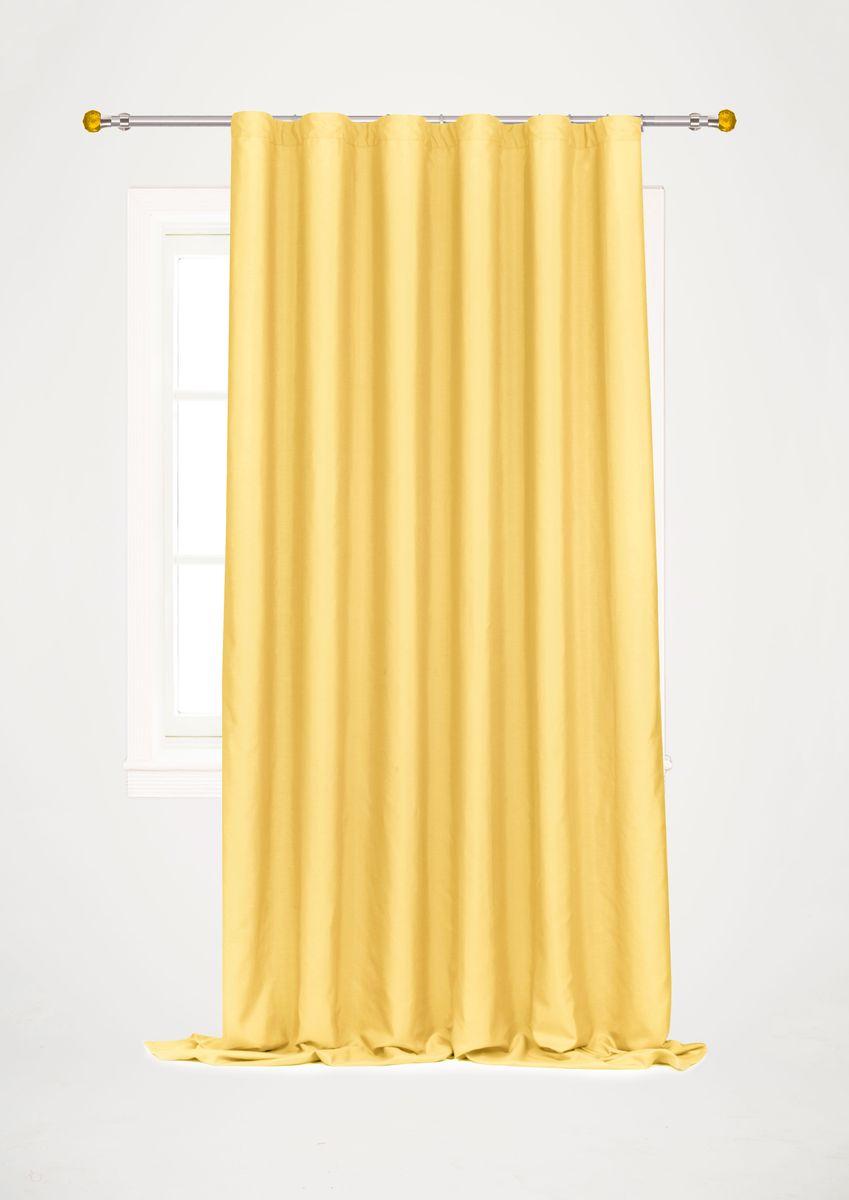 Штора Garden, на ленте, цвет: золотой, высота 260 см. С W1687 V72147С W1687 V72147Garden – это универсальная и интересная серия домашних штор для яркого и стильного оформления окон и создания особенной уютной атмосферы. Эта штора великолепно смотрится как одна, так и в паре, в комбинации с нежной тюлевой занавеской, собранная на подхваты и свободно ниспадающая естественными складками. Такая штора, изготовленная полностью из прочного и очень практичного полиэстерового полотна, долговечна и не боится стирок, не сминается, не теряет своего блеска и яркости красок.