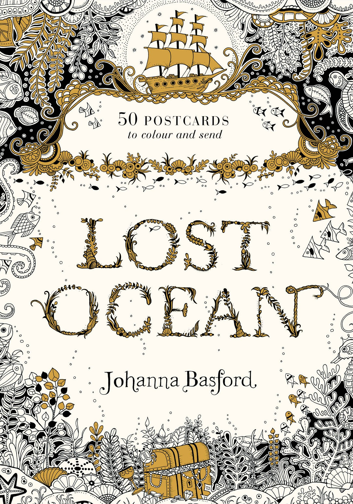 Lost Ocean Postcard Edition: 50 Postcards to Colour and Send celtic patterns to colour