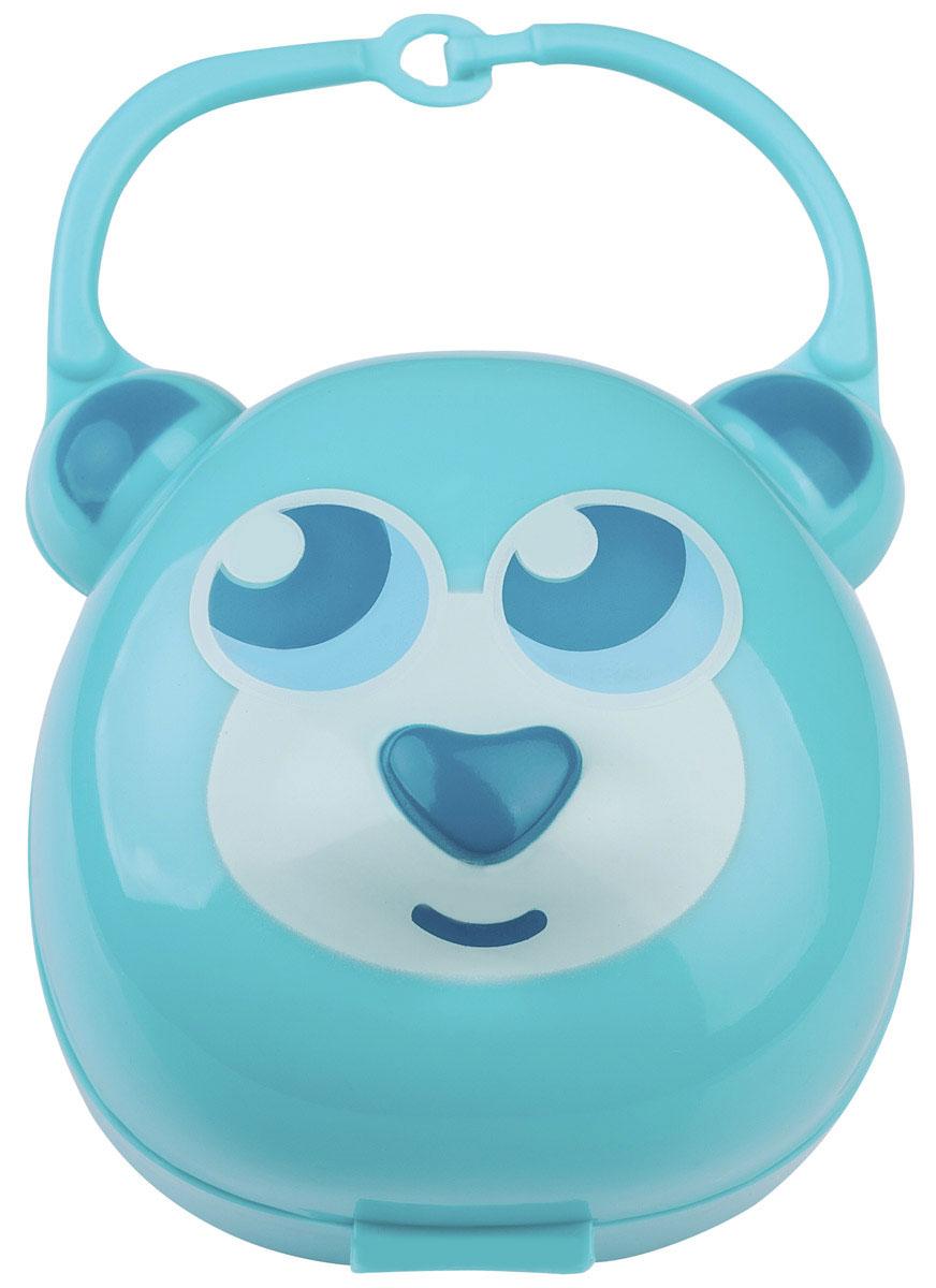 BabyOno Футляр для пустышки Мишка цвет светло-бирюзовый ночники babyono ночник с колыбельными baby мишка