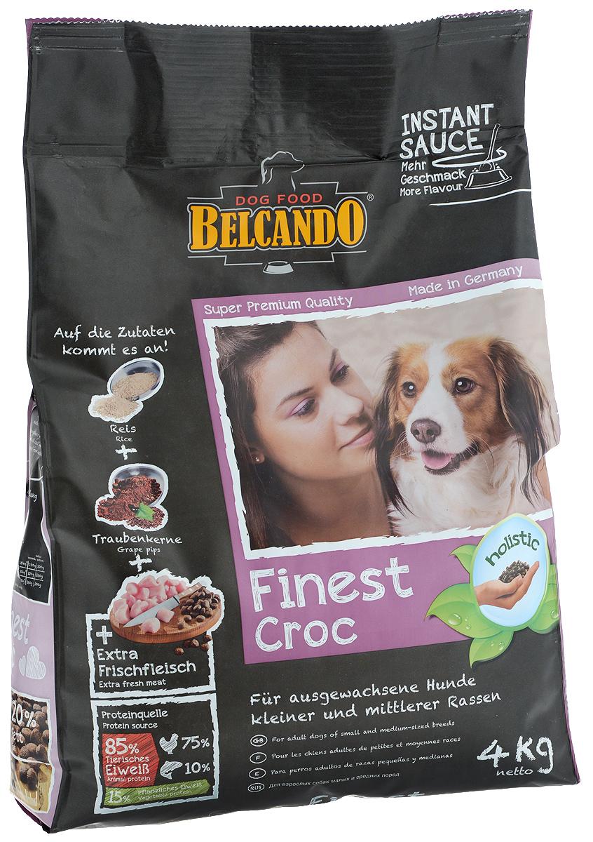 Корм сухой Belcando Finest Croc, для привередливых собак мелких и средних пород, с уткой и печенью, 4 кг. 6103161031_птица, рыбаСпециально отобранное сырьё, вкусная утка и печень делают Belcando Finest Croc кормом номер один для гурманов среди взрослых собак. Большое количество легкоусвояемого риса и ценной муки из виноградных косточек делают этот корм не только вкусным, но и полезным. Высокая доля протеинов и жиров способствует пищеварению и уменьшает количество экскрементов.Товар сертифицирован.