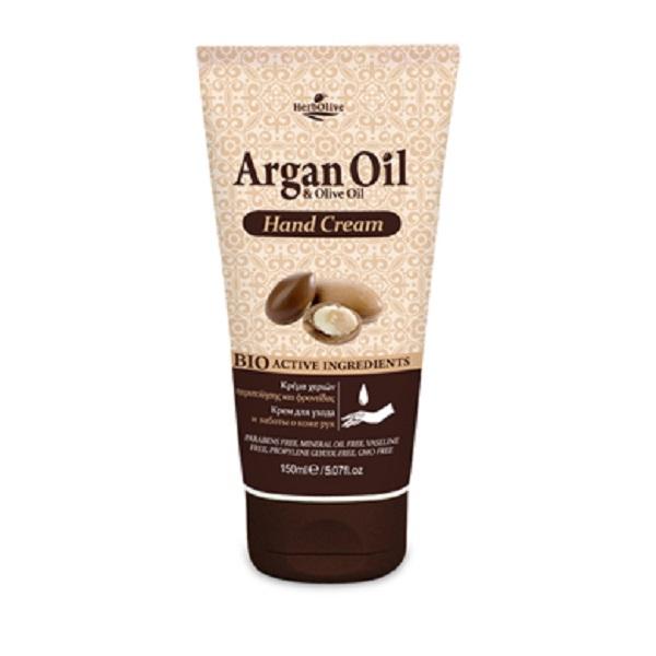 ArganOil Крем для рук с маслом арганы 150 мл5200310402821Крем для рук содержит органическое оливковое масло, глицерин, аллантоин, экстракт алоэ вера - ингредиенты, обеспечивающие питание и увлажнение. Обладает антиоксидантными свойствами, нейтрализует свободные радикалы, защищает от возрастных признаков, поддерживает мягкость рук и здоровый вид кожи. Косметика произведена в Греции на основе органического сырья, НЕ СОДЕРЖИТ минеральные масла, вазелин, пропиленгликоль, парабены, генетически модифицированные продукты (ГМО)