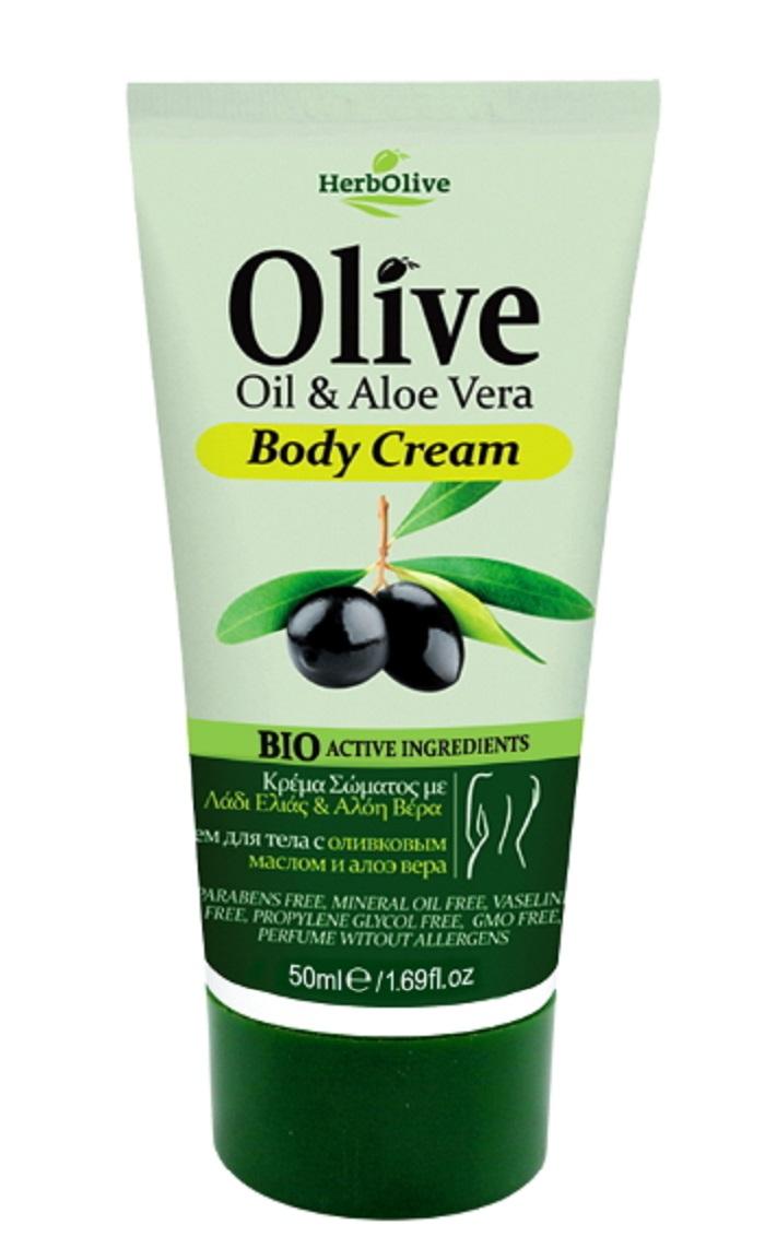 Herbolive Мини крем для тела с алоэ-вера 50 мл5200310404283Содержит органическое оливковое масло, активный экстракт органического алоэ-вера, обогащен витаминомЕ. Обеспечивает свежесть иувлажнение кожи, делает ее гладкой имягкой. Косметика произведена в Греции на основе органического сырья, НЕ СОДЕРЖИТ минеральные масла, вазелин, пропиленгликоль, парабены, генетически модифицированные продукты (ГМО)