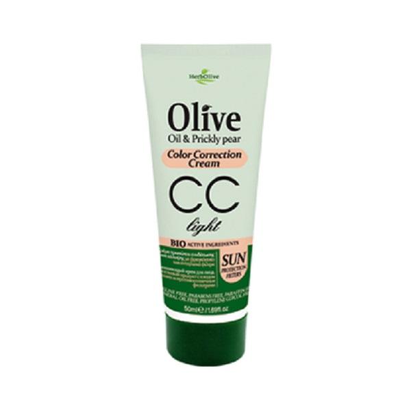 HerbOlive СС-крем выравнивающий тон кожи лица светлый 50 мл5200310404962Уникальная формула с витаминами, микроэлементами и UF-фильтры. Подходит для любого типа кожи.Помогает устранить дефекты кожи, вызванные сыпью, веснушками или просто усталостью. Увлажняет, защищает кожу, придает ровный оттенок, матирует.Можно использовать как обычный увлажняющий крем. Если вам нужно больше защиты - нанести второй слой. Косметика произведена в Греции на основе органического сырья, НЕ СОДЕРЖИТ минеральные масла, вазелин, пропиленгликоль, парабены, генетически модифицированные продукты (ГМО)