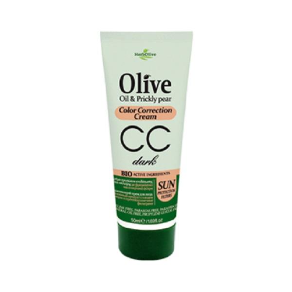HerbOlive СС-крем выравнивающий тон кожи лица темный 50 мл5200310404979Уникальная формула с витаминами, микроэлементами и UF-фильтры. Подходит для любого типа кожи.Помогает устранить дефекты кожи, вызванные сыпью, веснушками или просто усталостью. Увлажняет, защищает кожу, придает ровный оттенок, матирует.Можно использовать как обычный увлажняющий крем. Если вам нужно больше защиты - нанести второй слой. Косметика произведена в Греции на основе органического сырья, НЕ СОДЕРЖИТ минеральные масла, вазелин, пропиленгликоль, парабены, генетически модифицированные продукты (ГМО)