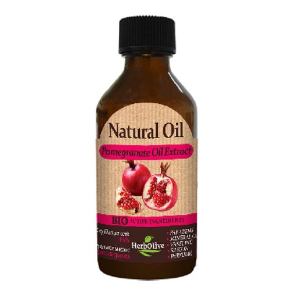 HerbOlive Натуральное масло с экстрактом граната 100 мл1105320220Масло с экстрактом органического граната является прекрасным средством для подтяжки кожи.Оно отлично подходит для предотвращения послеродовых растяжек, а массаж с гранатовым маслом полезен для улучшения тонуса груди.Экстракт граната применяют для эффективного отбеливания кожи лица, устранения веснушек, пигментных пятен и угрей. Оно обладают антибактериальным, антивирусным и противогрибковым свойствами.Кроме того, гранатовый сок сужает поры и с его помощью можно быстро и эффективно решить проблемы жирной кожи. Косметика произведена в Греции на основе органического сырья, НЕ СОДЕРЖИТ минеральные масла, вазелин, пропиленгликоль, парабены, генетически модифицированные продукты (ГМО)