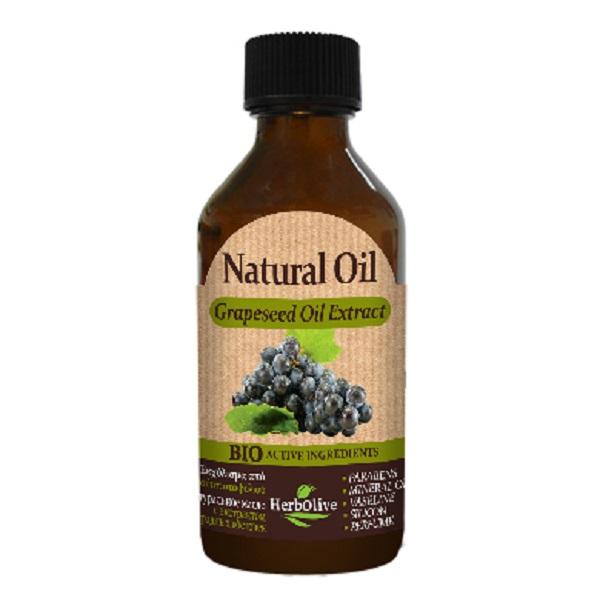 HerbOlive Натуральное масло виноградных косточек 100 мл5200310405167Масло виноградных косточек, богат витамином Е, микроэлементами и жирными кислотами. Устраняет сухость и шелушение кожи. Прекрасно освежает и тонизирует кожу. Помогает повысить эластичность и упругость кожи, а также разгладить имеющиеся на ней небольшие морщинки (что особенно хорошо при уходе за увядающей кожей). При регулярном применении масла виноградных косточек кожа лица становится мягкой, ровной и гладкой, а также приятного цвета, здоровой и ухоженной.Обладает хорошим противовоспалительным и вяжущим действием, эффективно использовать при проблемной коже, пораженной воспалениями и угревой сыпью. Имеет легкую консистенцию, легко и быстро впитывается в кожу, не забивает поры, и не является комедогонным. Косметика произведена в Греции на основе органического сырья, НЕ СОДЕРЖИТ минеральные масла, вазелин, пропиленгликоль, парабены, генетически модифицированные продукты (ГМО)