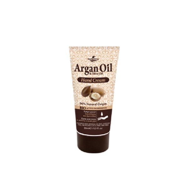 ArganOil Мини крем для рук с маслом арганы 30 мл05300361Крем для рук содержит органическое оливковое масло, глицерин, аллантоин, экстракт алоэ вера - ингредиенты, обеспечивающие питание и увлажнение.Обладает антиоксидантными свойствами, нейтрализует свободные радикалы, защищает от возрастных признаков, поддерживает мягкость рук и здоровый вид кожи.Косметика произведена в Греции на основе органического сырья, НЕ СОДЕРЖИТ минеральные масла, вазелин, пропиленгликоль, парабены, генетически модифицированные продукты (ГМО)Как ухаживать за ногтями: советы эксперта. Статья OZON Гид