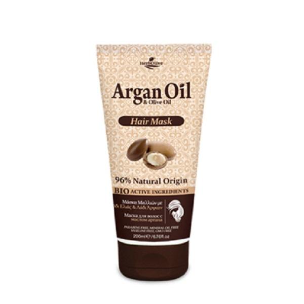 ArganOil Маска для волос с маслом арганы 200 мл5200310405242Маска для волос обогащена органическими маслами арганы и оливы, что создает уникальное сочетание компонентов, которые помогают защитить волосы, оживить цвет и блеск, придать им здоровый вид и объем. Нанесите на влажные чистые волосы, оставьте на 5-10 минут и хорошо смойте водой. Подходит для частого использования.Косметика произведена в Греции на основе органического сырья, НЕ СОДЕРЖИТ минеральные масла, вазелин, пропиленгликоль, парабены, генетически модифицированные продукты (ГМО)