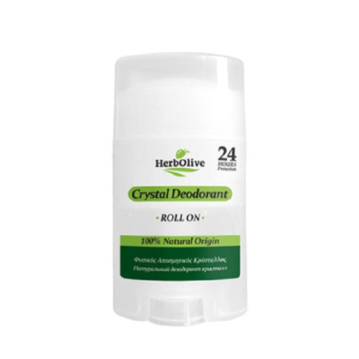 HerbOlive Дезодорант для тела Кристалл натуральный роллер 70 г5200310405372Дезодорант Кристалл, является великолепным способом борьбы с нежелательными запахами. Он естественным образом действуют против бактерий, предлагая защиту и непревзойденную свежесть 24 часа.Немного смочите камень перед использованием и нанесите на чистую и сухую кожу подмышек или ног. Косметика произведена в Греции на основе органического сырья, НЕ СОДЕРЖИТ минеральные масла, вазелин, пропиленгликоль, парабены, генетически модифицированные продукты (ГМО)