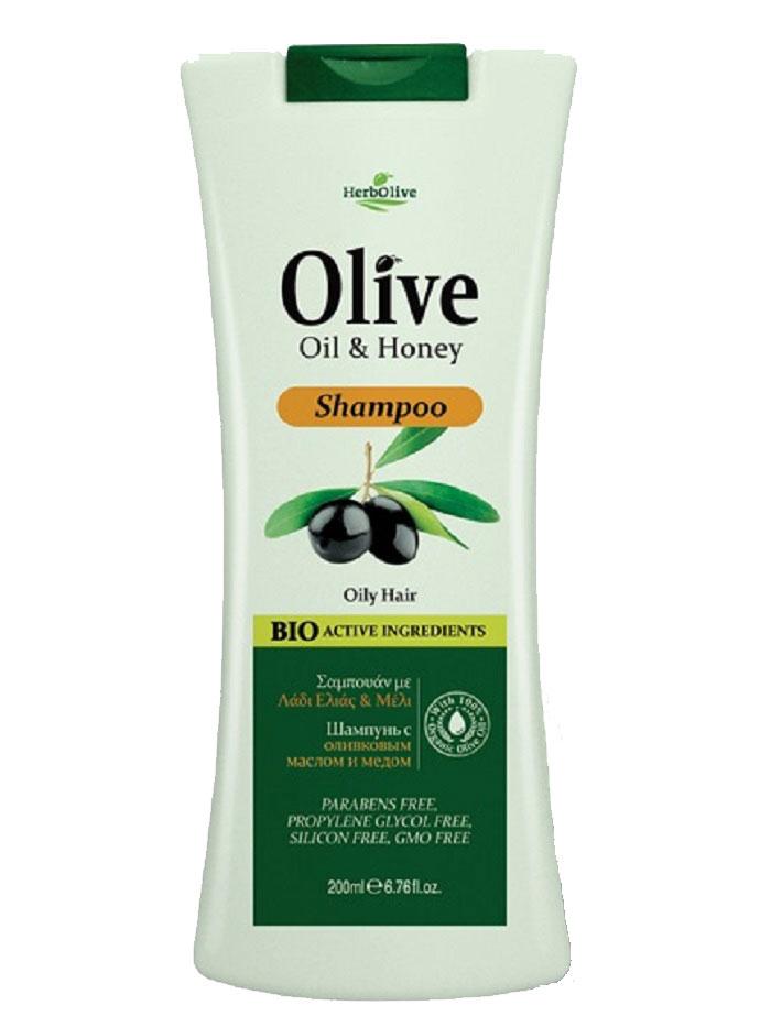 HerbOlive Шампунь для жирных волос с медом 200 мл herbolive гель для душа с диктамосом 200 мл
