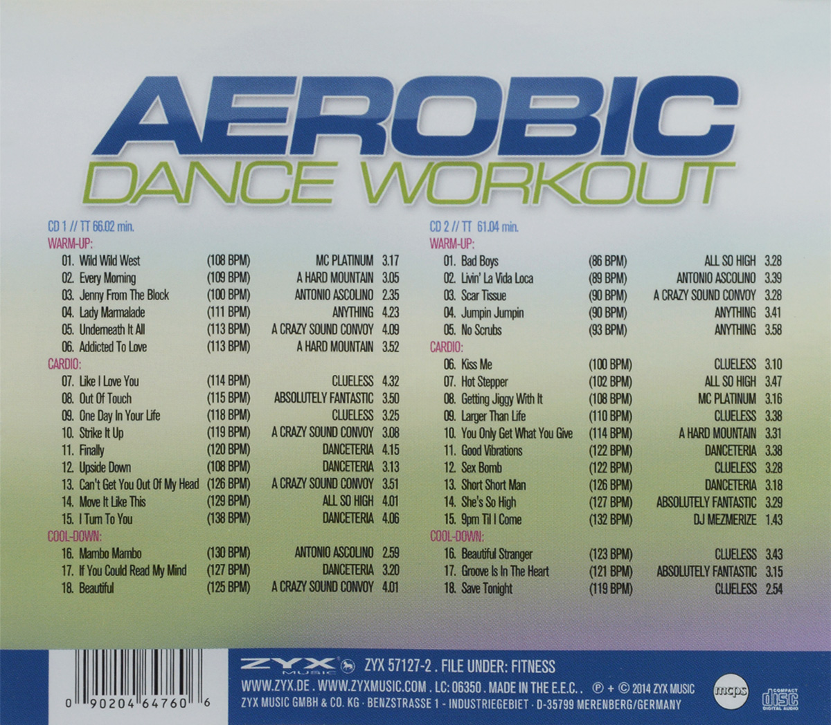 Aerobic Dance Workout (2 CD) Волтэкс-инвест,ZYX Music