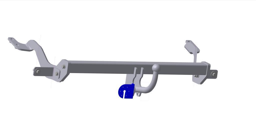 Фаркоп Bosal для Citroen Berlingo II, Peugeot Partner II 2008->..., горизонтальная/вертикальная нагрузка на шар 1200/50 (без электрики), 2551-A