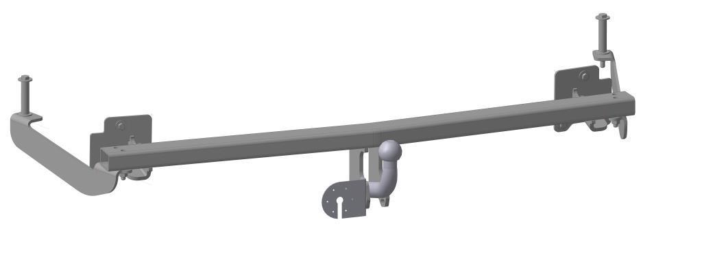 Фаркоп Bosal для Fiat Doblo I 2001->..., горизонтальная/вертикальная нагрузка на шар 1300/50 (вырез в бампере), 2626-A2626-AТип шара А – съемный на двух болтах шар, грузоподъемность 1500 кг.