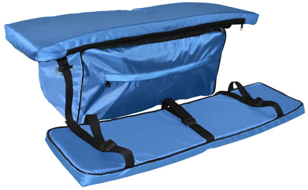 Накладка AG-brand на банку с сумкой, 80х20, цвет: голубойAG-UNI-MA-BB80*20-TCКомплект включает в себя 2 мягкие накладки на доску и 1 сумку. Размер накладок 80х20смКомплект изготовлен из водонепроницаемой и долговечной ткани с PVC покрытием. В накладках установлен поролон толщиной 40мм. Сумка под банку крепится к накладке при помощи молнии. Сумка - прекрасное дополнительное место для хранения в вашу лодку!