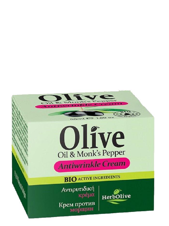 HerbOlive Крем для лица против морщин 50 мл5200310401435Рекомендуется с 35 лет. Подходит для сухой и нормальной кожи. Активные вещества: Экстракт витекса, витамины А,Е,С, масло ши и сладкого миндаля обладают мощнейшим антиоксидантным свойством, призванным бороться со старением кожи. Крем повышает эластичность, великолепное подтягивает увядающую, уставшую кожу. Укрепляет стенки капилляров, предотвращая появление купероза.Косметика произведена в Греции на основе органического сырья, НЕ СОДЕРЖИТ минеральные масла, вазелин, пропиленгликоль, парабены, генетически модифицированные продукты (ГМО)