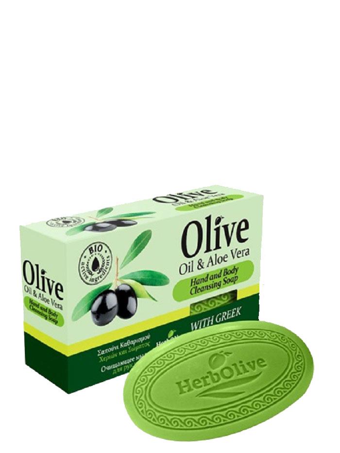 HerbOlive Оливковое мыло с алоэ-вера 90 г5200310401794Природные антиоксиданты которые содержатся воливковом мыле увлажняют ипитают кожу. Натуральное оливковое мыло, производится безискусственных красителей ихимических добавок, стимулируют новые клетки крегенерации изамедляет старение. Втожевремя смягчает кожу иоблегчает многие заболевания, включая акне, экзему. Косметика произведена в Греции на основе органического сырья, НЕ СОДЕРЖИТ минеральные масла, вазелин, пропиленгликоль, парабены, генетически модифицированные продукты (ГМО)