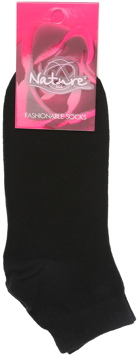 Носки женские Nature, цвет: черный. 163ж. Размер 23/25163жУдобные укороченные женские носки Nature, изготовленные из высококачественного комбинированного материала, идеально подойдут для повседневной носки. Благодаря содержанию мягкого хлопка в составе, кожа сможет дышать, полиамид обеспечивает износостойкость, а эластан позволяет носочкам легко тянуться, что делает их комфортными в носке. Эластичная резинка плотно облегает ногу, не сдавливая ее, обеспечивая комфорт и удобство. Практичные и комфортные носки с укрепленным мыском и пяткой великолепно подойдут к вашей повседневной обуви.