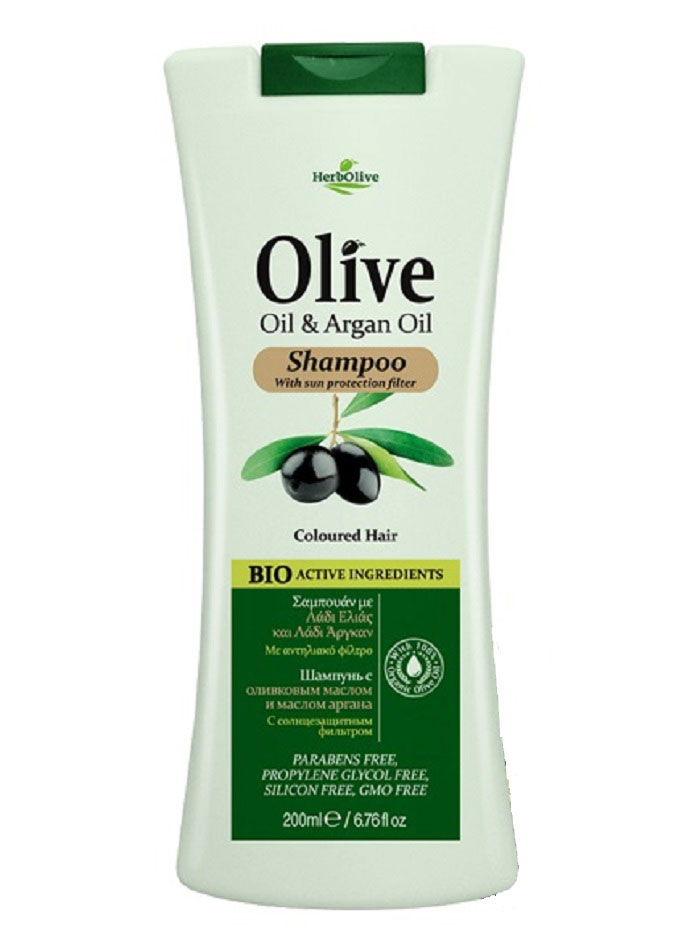 HerbOlive Шампунь для окрашенных волос с маслом арганы, 200 мл herbolive гель для душа с диктамосом 200 мл