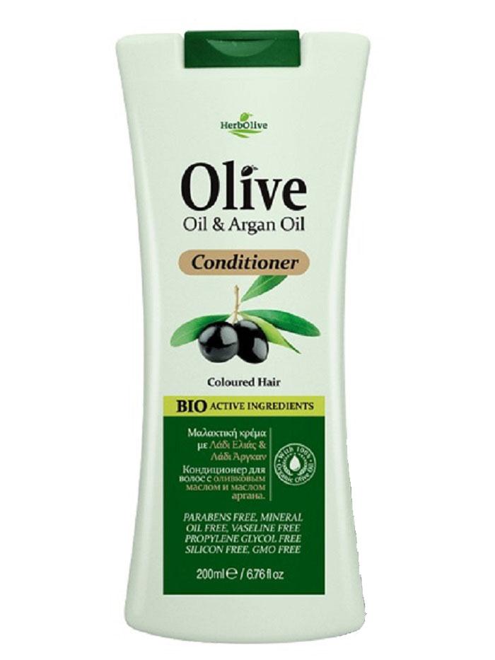 HerbOlive Кондиционер для окрашенных волос с маслом арганы, 200 мл herbolive гель для душа с диктамосом 200 мл