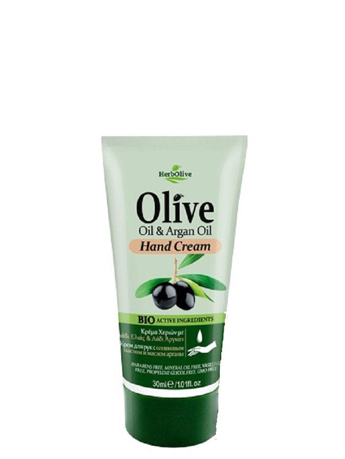 HerbOlive Мини крем для рук с маслом арганы 30 мл5200310402623Крем для рук с маслом арганы, на основе органического масла оливы идеально подходит для ежедневного использования.Легко впитывается увлажняет и смягчает кожу рук, защищает от сухости, раздражений, трещин и ежедневного воздействия внешней агрессивной среды.Увлажняет руки, делая их мягкими и гладкими. Косметика произведена в Греции на основе органического сырья, НЕ СОДЕРЖИТ минеральные масла, вазелин, пропиленгликоль, парабены, генетически модифицированные продукты (ГМО)Как ухаживать за ногтями: советы эксперта. Статья OZON Гид