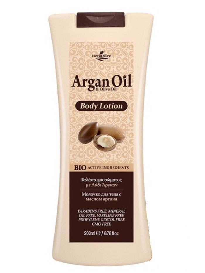 ArganOil Молочко для тела 200 мл5200310402852Содержит органическое оливковое масло, подсолнечное масло, глицерин, натуральные компоненты богатые витаминами и минералами. Обеспечивает глубокое увлажнение ипитание, антивозрастное, успокаивающее действие. Обладает омолаживающим эффектом, придает коже здоровый вид исвежесть. Косметика произведена в Греции на основе органического сырья, НЕ СОДЕРЖИТ минеральные масла, вазелин, пропиленгликоль, парабены, генетически модифицированные продукты (ГМО)