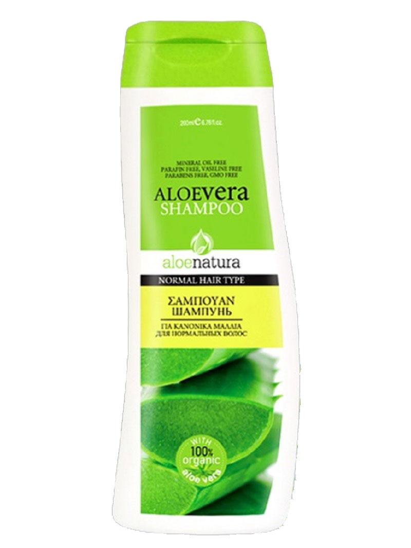 AloeNatura Шампунь для нормальных волос 200 мл5200310403019Шампунь с активным экстрактом алоэ и провитамином В5 идеален для нормальных волос. Питает и восстанавливает волосы, придавая восхитительный блеск.Косметика произведена в Греции на основе органического сырья, НЕ СОДЕРЖИТ минеральные масла, вазелин, пропиленгликоль, парабены, генетически модифицированные продукты (ГМО)