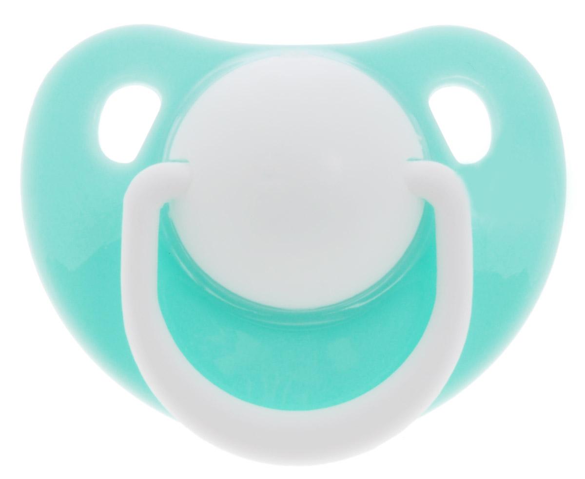 Lubby Пустышка силиконовая Классика от 0 месяцев цвет светло-бирюзовый lubby набор для кормления классика ложка и вилка от 4 месяцев