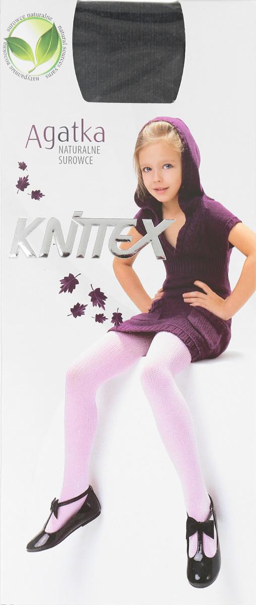 Колготки для девочки Knittex Agatka, цвет: черный меланж. Размер 140/146, 10-11 летRDZAGATKAКлассические детские колготки Knittex Agatka изготовлены специально для девочек.Плотные колготки с продольным рельефным узором в виде мелкого рубчика имеют широкую резинку и комфортные плоские швы. Теплые и прочные, эти колготки равномерно облегают ножки, не сдавливая и не доставляя дискомфорта. Эластичные швы и мягкая резинка на поясе не позволят колготам сползать и при этом не будут стеснять движений. Входящие в состав ткани полиамид и эластан предотвращают растяжение и деформацию после стирки. Однотонная расцветка позволит сочетать эти колготки с любыми нарядами маленькой модницы.Классические колготки - это идеальное решение на каждый день для прогулки, школы, яслей или садика. Такие колготки станут великолепным дополнением к гардеробу вашей красавицы.