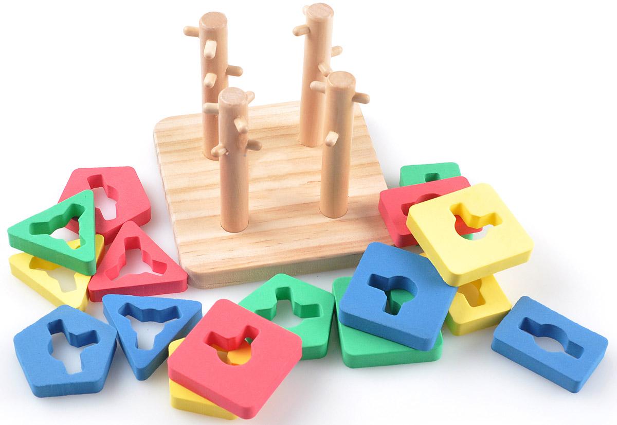 Мир деревянных игрушек Пирамидка Логический квадрат малый