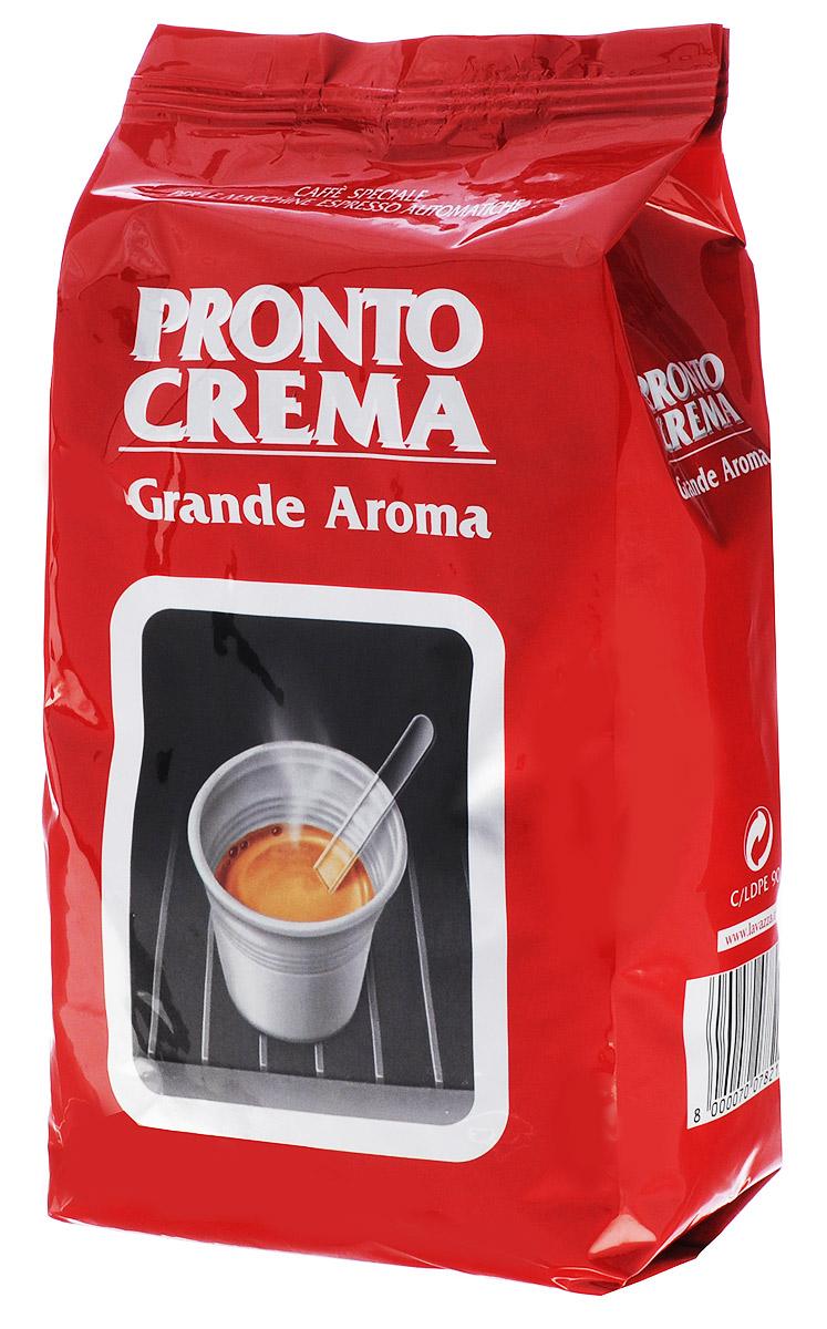 Lavazza Pronto Crema кофе в зернах, 1 кг8000070078215Кофе в зернах Lavazza Pronto Crema Grande Aroma представляет собой утонченную смесь, в состав которой входит 100% арабика ценнейших сортов. Смесь характеризуется мягким и сладковатым вкусом с ненавязчивой пикантностью, дает небольшую пенку и приятное продолжительное послевкусие. Кофе темной обжарки идеально подходит для приготовления классического крепкого эспрессо в стандартной автоматической кофемашине.Кофе: мифы и факты. Статья OZON Гид