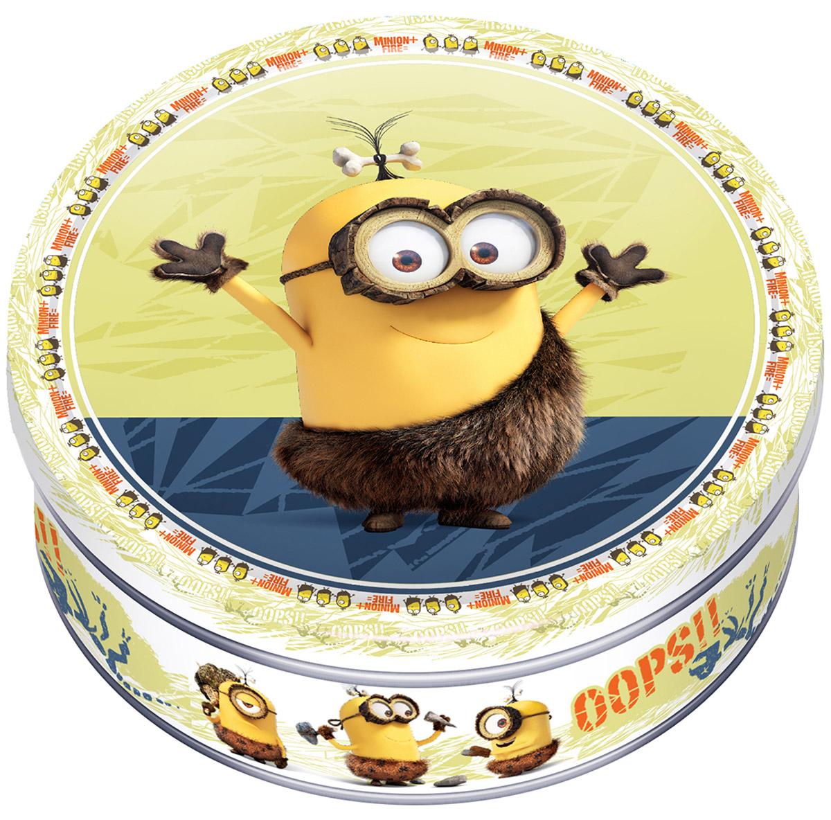 Minions печенье сдобное с кусочками шоколада, 150 г4600416016891_желтый фонMinions - 100% сдобное печенье в подарочной банке. В коллекции Minions 3 варианта дизайна подарочных банок, каждый из которых - отличный подарок ко Дню всех влюбленных или другой особой дате.