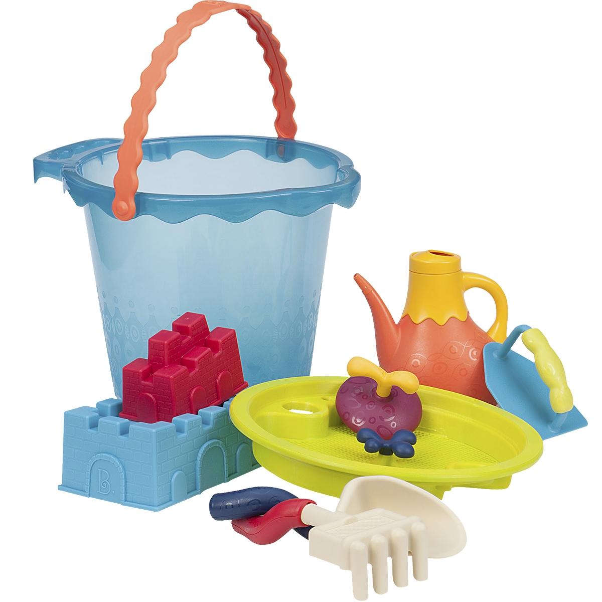 B.Summer Ведерко большое и игровой набор для песка Shore Thing 9 предметов