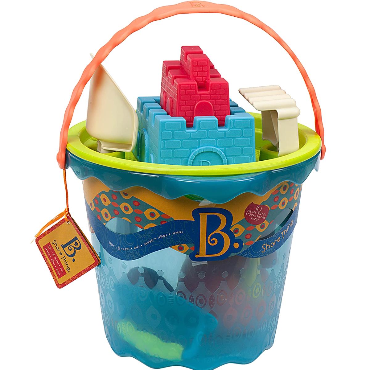 B. SummerВедерко большое и игровой набор для песка Shore Thing 9 предметов B.Summer
