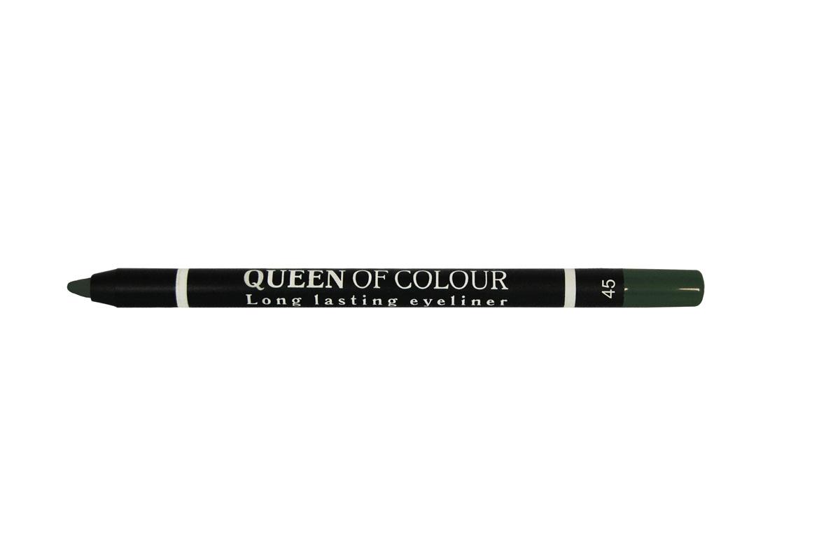 Ninelle Карандаш для глаз Queen Of Colour №45743N10452Высокая концентрация пигментов создает насыщенный цвет, который делает образ более ярким и индивидуальным. Таким карандашом можно выполнить как дневной, так и вечерний макияж.Новая формула с витамином Е способствует идеально мягкому нанесению карандаша на веки. Он прекрасно растушевывается и превосходно держится на веках в течение всего дня. Для создания более глубокого образа не ждите пока карандаш зафиксируется, а сразу приступайте к растушевке его границ.