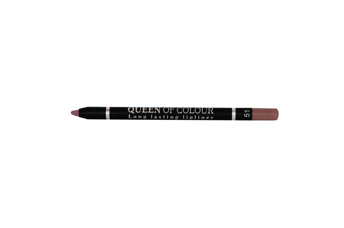 Ninelle Карандаш для губ Queen Of Colour №51744N10453Абсолютно матовая, шелковистая и мягкая текстура изготовлена по принципу губной помады. Поэтому карандаш легко скользит по контуру губ, эффектно его подчеркивает и делает макияж максимально стойким в течение всего дня. Специальные насыщенные цветовые пигменты придают оттенкам роскошные насыщенные цвета, которые остаются на губах неизменными в течение всего дня. Усовершенствованная формула с витамином Е обеспечивает комфортное ощущение на губах и оказывает ухаживающее действие за нежным контуром губ. Карандаш выполнен в пластиковом, легко затачивающемся корпусе.