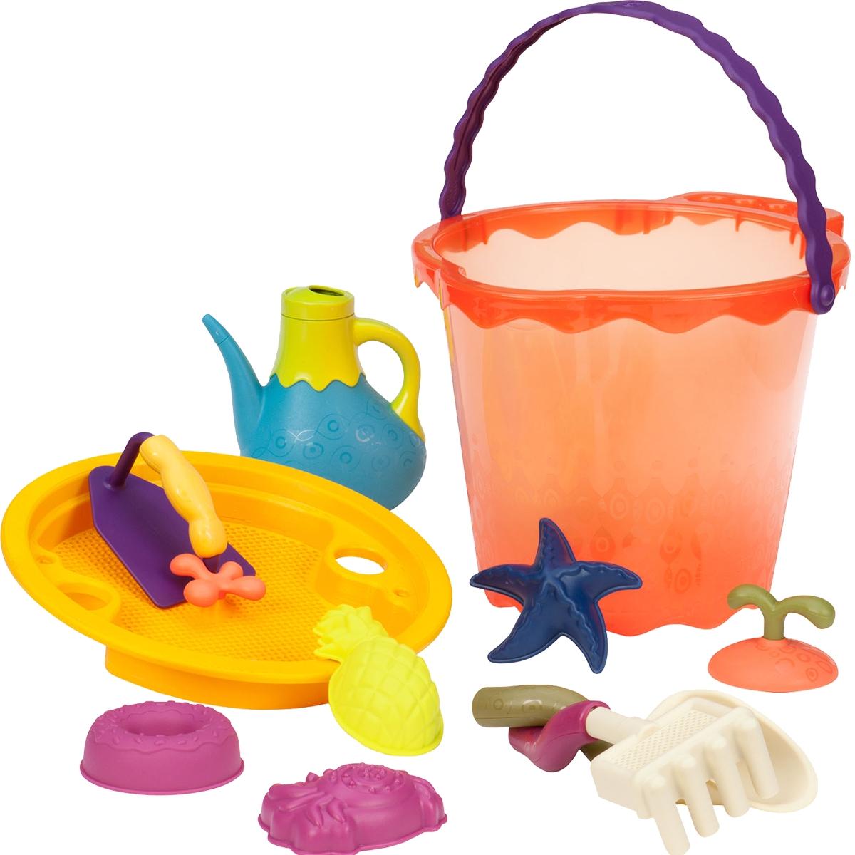 B.Summer Ведерко большое и игровой набор для песка Shore Thing 11 предметов - Игры на открытом воздухе