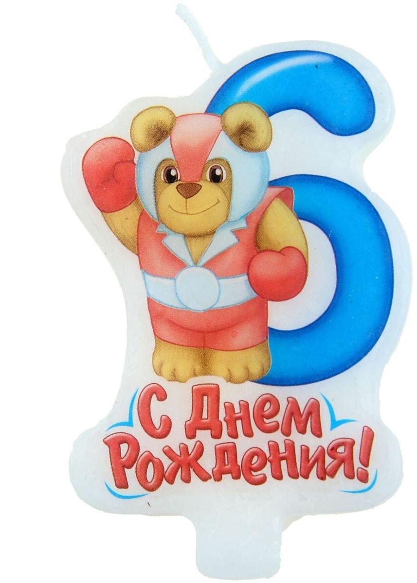 Sima-land Свеча в торт серия Супергерои цифра 6 5 х 8 см 1040290