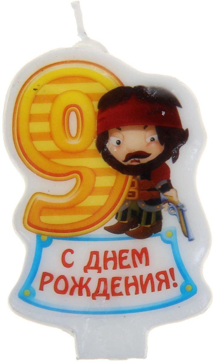 Sima-land Свеча для торта Цифра 9 Пираты