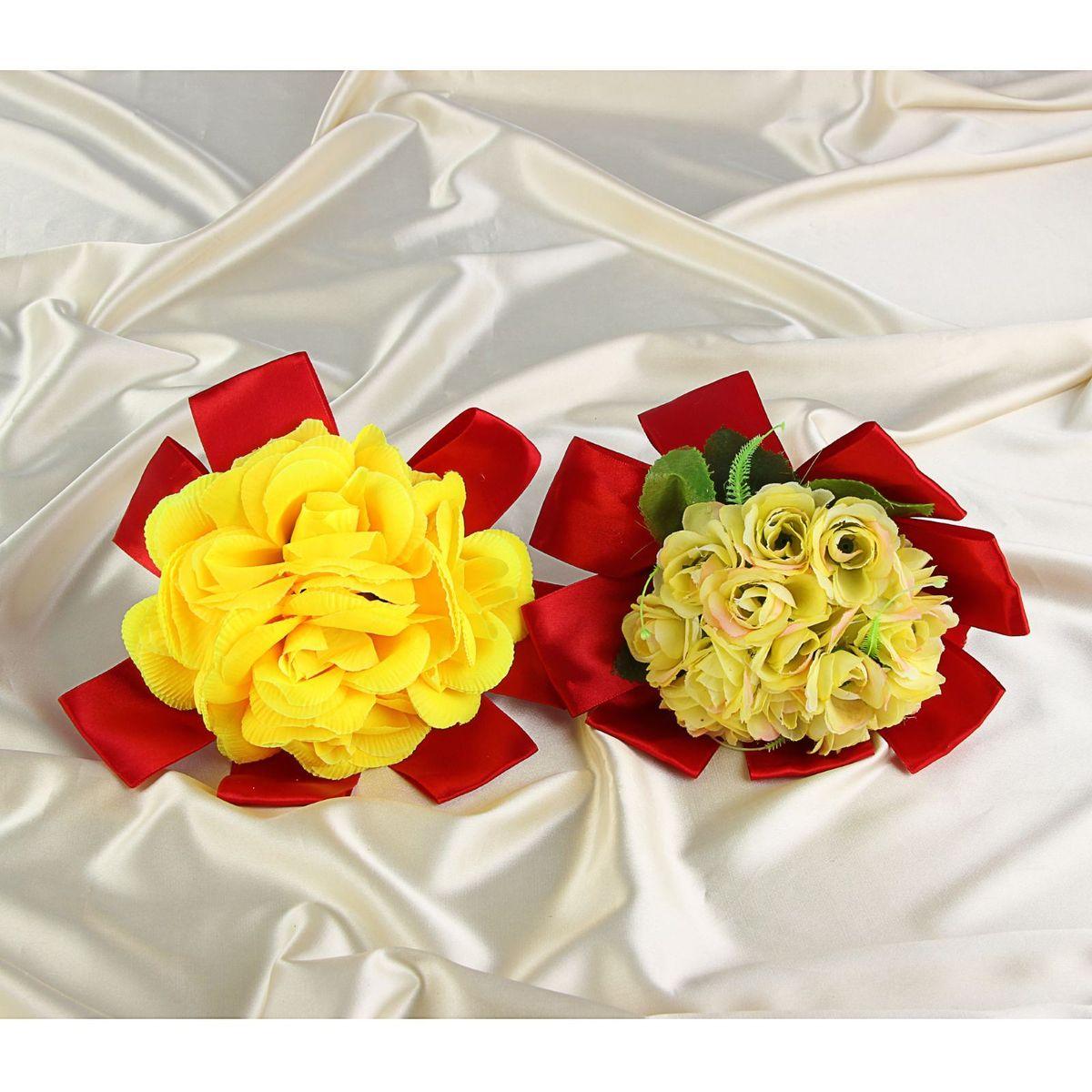 Букет-дублер Sima-land, цвет: желтый, красный. 12511641251164Добавьте в интерьер частичку весны! Дублер букета невесты из желтых цветов в красном оформлении микс будет радовать неувядающей красотой не один год. Просто поставьте его в вазу или создайте пышную композицию.Искусственные растения не требуют поливки, особого освещения и другого специального ухода. Они украсят любое помещение (например, ванную с повышенной влажностью или затемнённый коридор).Дом становится уютным благодаря мелочам. Преобразите интерьер, а вместе с ним улучшится и настроение