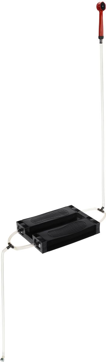 Душ-топтун Zenet, цвет: черный, прозрачный, красный00-00000507Душ-топтун Zenet – легкое и компактное устройство, простое в эксплуатации и надежное, так как благодаря простоте конструкции ломаться в нем нечему.Душ предназначен для использования в летний период времени, на даче, в походе и даже в период времени, когда отключают горячую воду в квартире. Изделие имеет простую конструкцию, без каких-либо сложных элементов, за счет чего он надежен и прост. А взять его с собой, никогда не составит труда.Чтобы накачать воздух, для того, чтобы пошла вода, достаточно топтаться на педалях - душ работает по принципу лодочного насоса лягушка. Принцип работы настолько прост, что с ним справится как пожилой человек, так и ребенок. С покупкой дачного душа, мытье станет приятной забавой для ваших детей. Душ для дачи будет выручать вас снова и снова. Благодаря эластичным подушкам, на которые необходимо нажимать, воду из шланга можно поднять до 2 м. Отличный забор воды гарантирован, ведь шланги для душа сделаны из толстого и прочного силикона. Функциональность душа не ограничена, ведь с его помощью можно помыть окна в теплице, машину, садовые дорожки, грядки и многое другое. Душ-топтун Zenet имеет широкую и удобную насадку для распыления воды. Для того, чтобы принять душ, потребуется всего лишь нагреть воду на газу или же оставить емкость под лучами солнца на несколько часов. Переносной душ не требует установки, разместить его можно где угодно. Напор воды такой же как и в обычном душе, поэтому можно свободно пользоваться не опасаясь за низкое давление воды.Душ топтун для дачи компактен и после использования его можно быстро и без труда убрать в пакет.Преимущества дачного душа:Экономия воды - Топтун использует до 10 л воды на одного человекаКомпактность - имеет небольшой размерНизкая стоимостьБезопасность - не требует никакого подключения к электросети, за счет чего вы обезопасите себя от токаНадежность - резиновый душ-топтун настолько прост в конструкции, что ломаться в нем просто неч
