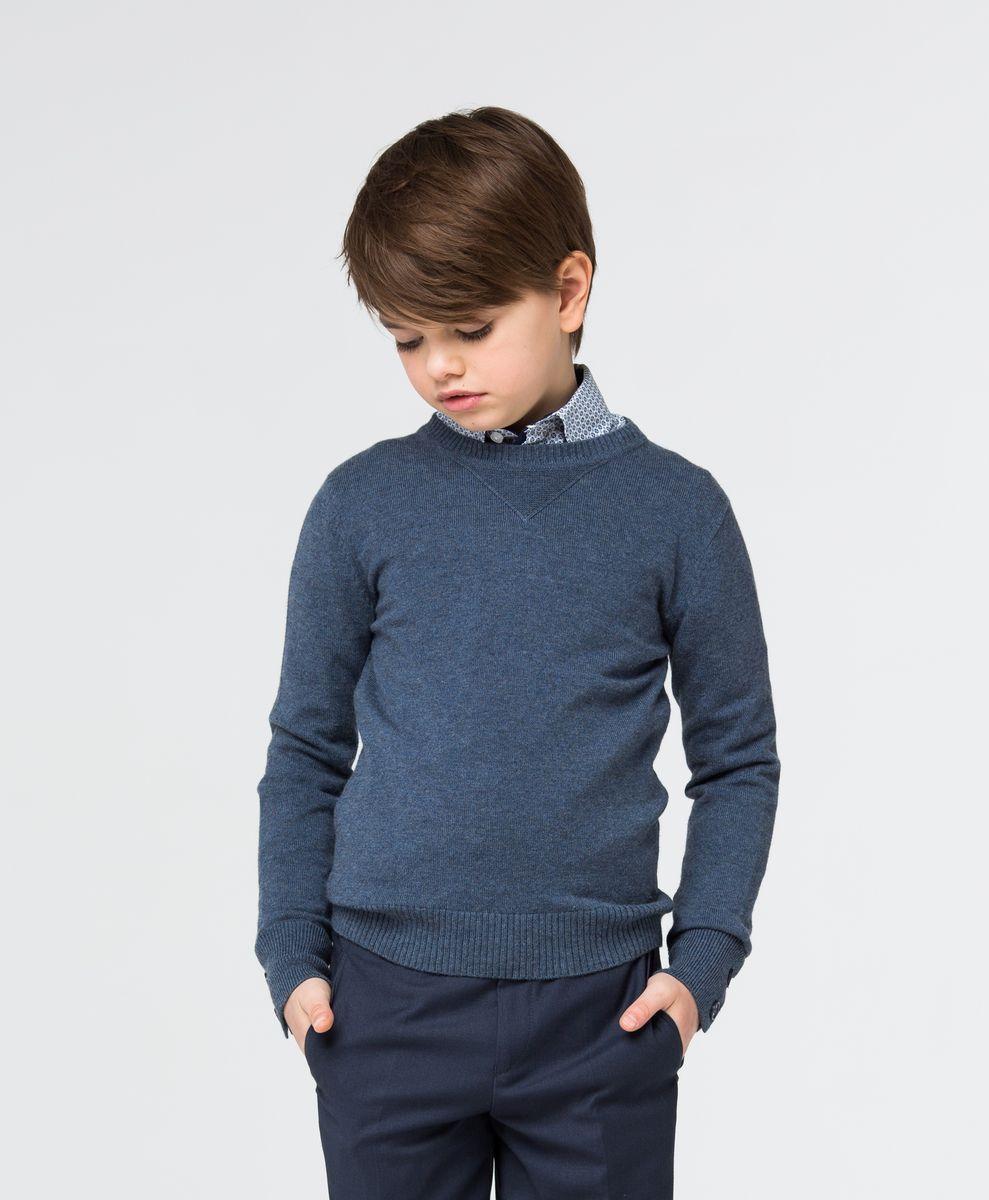 Джемпер для мальчика Silver Spoon, цвет: серо-синий. SSFSB-627-14931-311. Размер 158