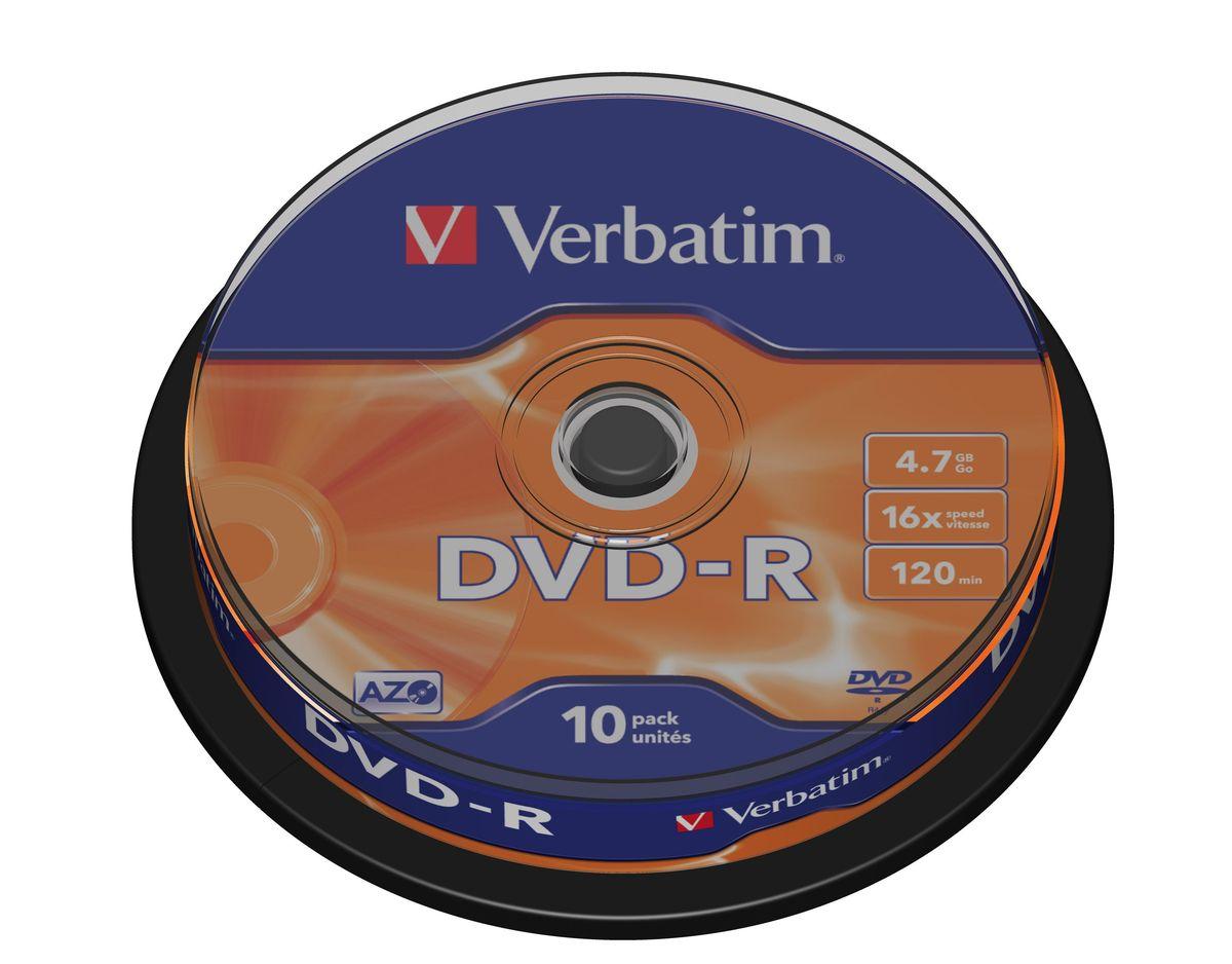 Verbatim DVD-R 4.7GB 16x лазерный диск, 10 шт (Cake)43523В дисках Verbatim DVDR/RW используется технология MKM/Verbatim, обеспечивающая непревзойденное качество записи. Тесное сотрудничество отдела исследований и разработок компании Mitsubishi Chemical с производителями дисководов обеспечивает широкую совместимость дисков Verbatim, что делает их идеальными носителями для передачи компьютерных данных, домашних видеофильмов, фотографий и музыки.